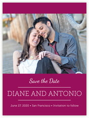 Modern Museo save the date cards