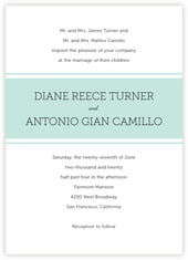 Modern Museo invitations