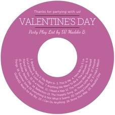 Modern Museo valentine's day CD/DVD labels