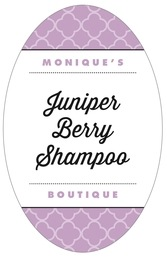 Morocco tall oval labels