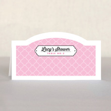 Morocco Place Card In Pale Pink