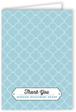 Morocco Folding Card In Blue