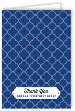 Morocco Folding Card In Deep Blue