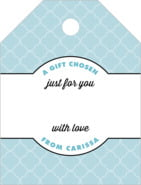 Morocco Small Luggage Gift Tag In Blue