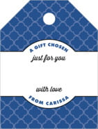Morocco small luggage gift tags