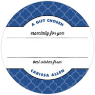Morocco large circle gift labels