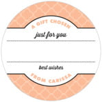 Morocco small circle gift labels