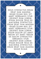 Morocco Text Label In Deep Blue