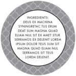Morocco circle text label