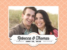 custom save-the-date cards - peach - morocco (set of 10)