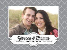 custom save-the-date cards - grey - morocco (set of 10)