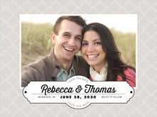 custom save-the-date cards - stone - morocco (set of 10)
