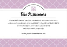 custom enclosure cards - lilac - morocco (set of 10)