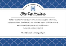 custom enclosure cards - deep blue - morocco (set of 10)