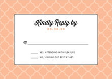 custom response cards - peach - morocco (set of 10)