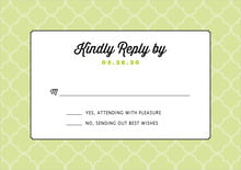 custom response cards - lime - morocco (set of 10)