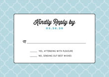 custom response cards - blue - morocco (set of 10)