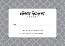 custom response cards - grey - morocco (set of 10)