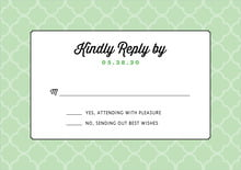 custom response cards - mint - morocco (set of 10)