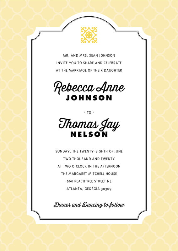 custom invitations - sunflower - morocco (set of 10)