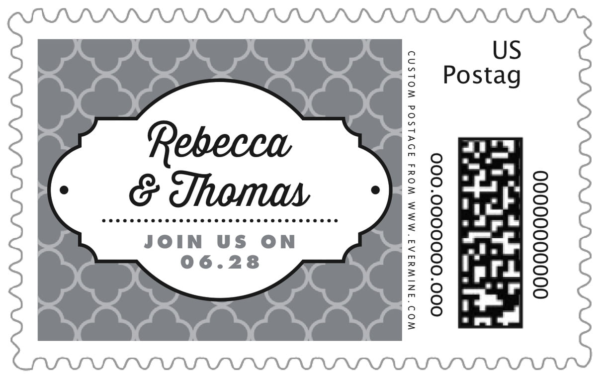 custom large postage stamps - grey - morocco (set of 20)