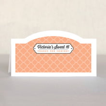 Morocco sweet sixteen place cards