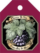 Meritage Red small luggage tags
