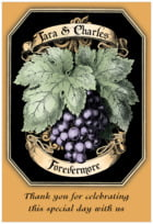 Meritage Red tall rectangle labels