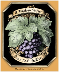 Meritage Red large labels