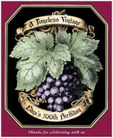 Meritage Red birthday wine labels