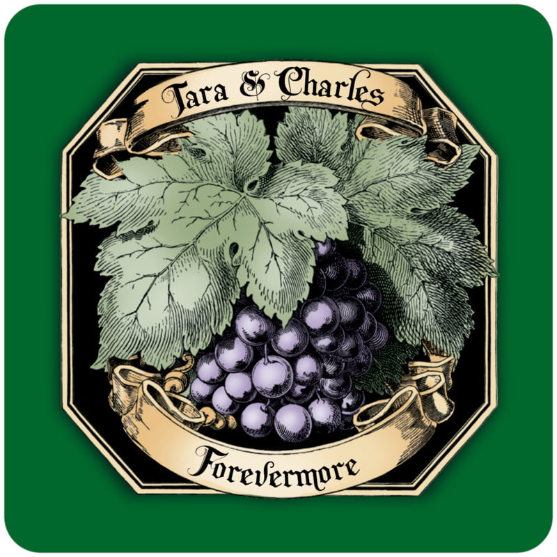 square wine coasters - deep green - meritage red (set of 12)