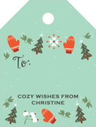 Merry Mittens Small Luggage Gift Tag In Aqua