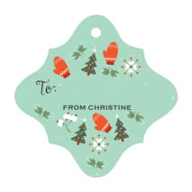Merry Mittens fancy diamond gift tags