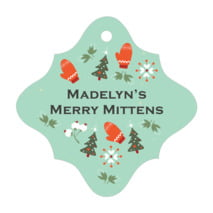Merry Mittens fancy diamond hang tags