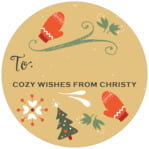 Merry Mittens small circle gift labels