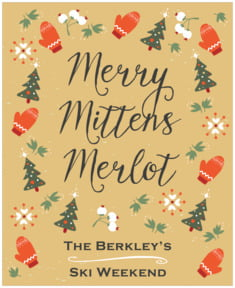 Merry Mittens large labels