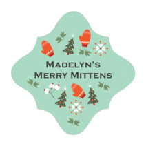 Merry Mittens fancy diamond labels