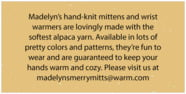 Merry Mittens rectangle text labels