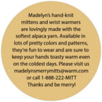 Merry Mittens circle text labels