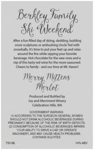 Merry Mittens large text label