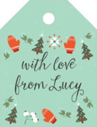 Merry Mittens small luggage tags