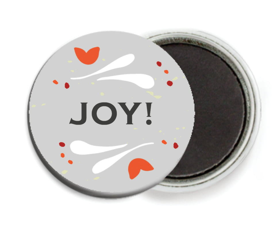 custom button magnets - stone - merry mittens (set of 6)