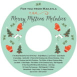 Merry Mittens holiday labels