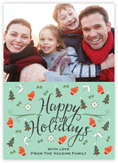 Merry Mittens photo cards - vertical