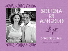 custom save-the-date cards - radiant orchid - miran silk (set of 10)