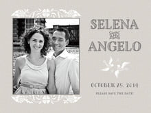 custom save-the-date cards - stone - miran silk (set of 10)