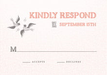 custom response cards - coral - miran silk (set of 10)