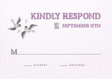 custom response cards - radiant orchid - miran silk (set of 10)