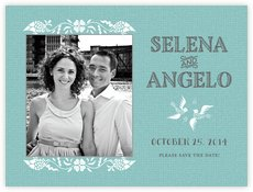 Miran Silk save the date cards