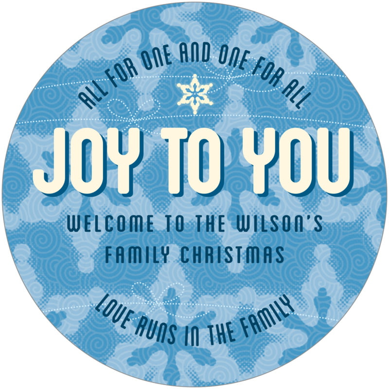 round holiday coasters - blue - mist & snow (set of 12)